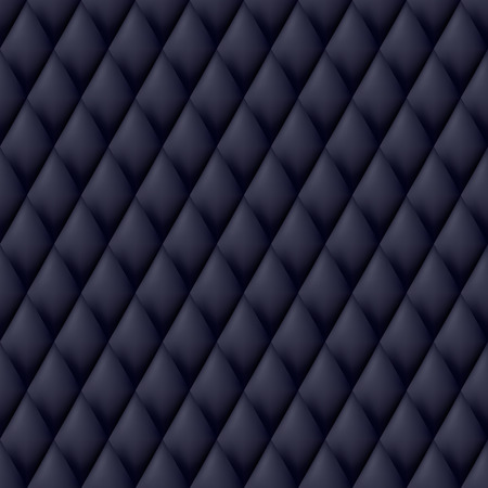quilted fabric: Quilted seamless pattern. Black color illustration.