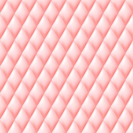 quilted fabric: Quilted seamless pattern. Pink color illustration.