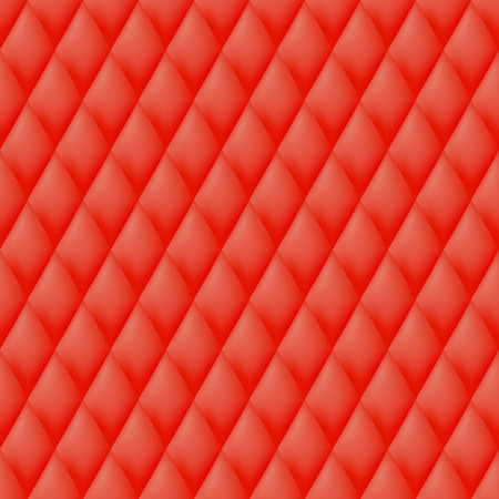 quilted: Quilted seamless pattern. Red color illustration. Illustration