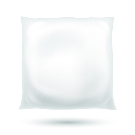 fluffy: Realistic fluffy pillow illustration isolated on white.