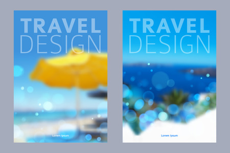 Cover design illustration - travel theme. Brochure flayer poster booklet magazine concept.  イラスト・ベクター素材