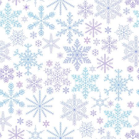 flocon de neige: flocons de neige seamless pattern color� chute. Vecteur de fond.