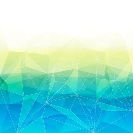 prisma: Fondo cristalino abstracto de colores. El hielo o la estructura de la joya. colores azul y amarillo. Vectores