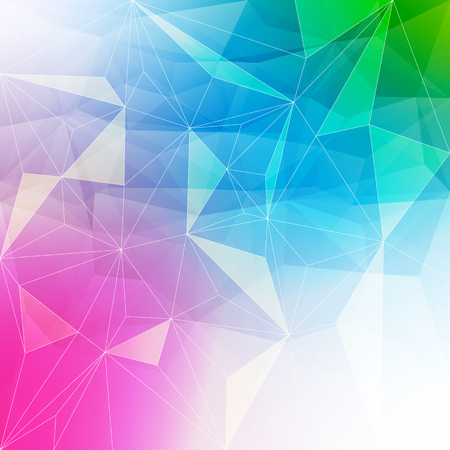 ice crystal: Colorful abstract crystal background. Ice or jewel structure. Pink, blue and green bright colors. Illustration