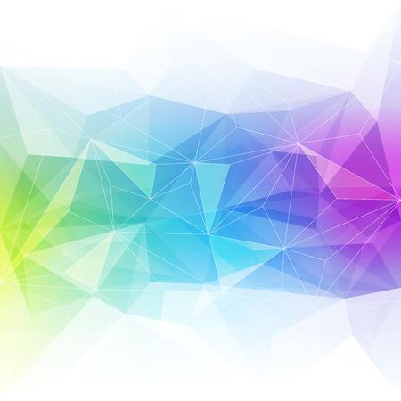 カラフルな抽象的な結晶の背景。氷や宝石の構造。青・緑・紫の明るい色。
