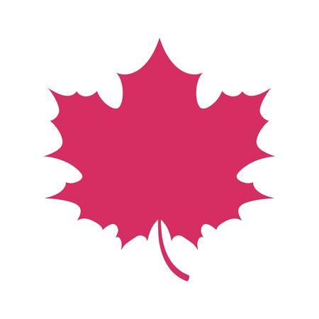 fall leaf: Simple flat maple leaf symbol logo fall autumn design. Vector illustration.