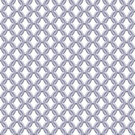metallic texture: Chain armor, coat of mail seamless realistic metallic silver texture. Abstract background vector illustration. Illustration