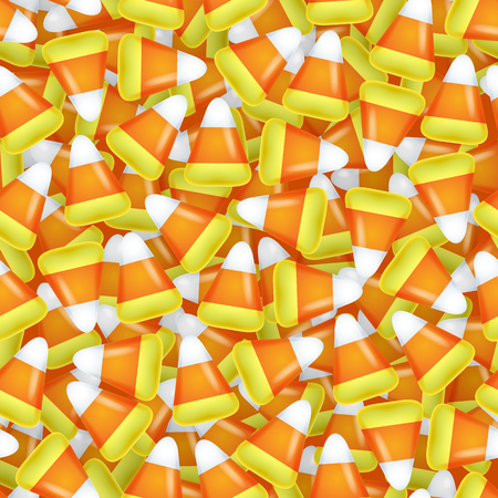 candy corn: Candy corn sweets seamless pattern vector illustration. Halloween symbol background.