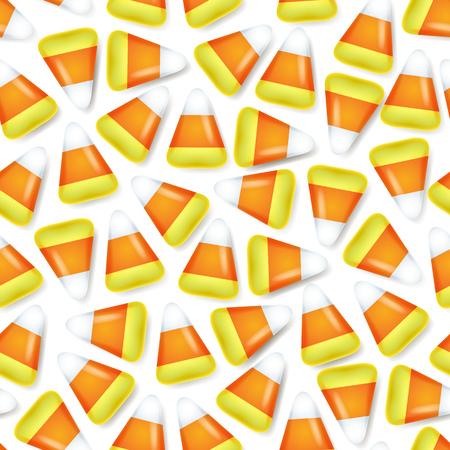 choclo: Candy dulces de ma�z patr�n sin fisuras ilustraci�n vectorial. V�spera s�mbolo de fondo.