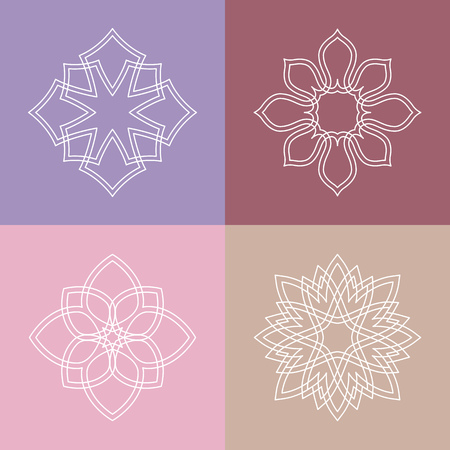 beauty salon: Flourish template ornament label.  Good for restaurant boutique hotel heraldic jewelry fashion spa yoga beauty salon emblem. Vector illustration.