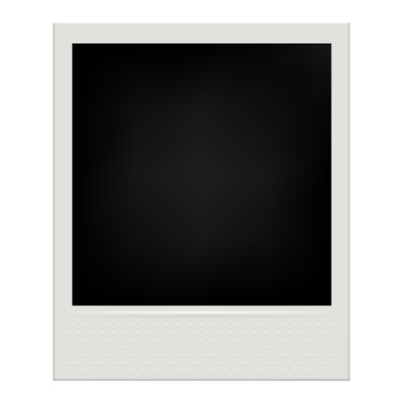 Instant film realistic polaroid frame isolated vector illustration. Çizim