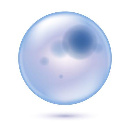 ameba: Transparente la salud celular ilustración la ciencia de vectores de fondo redondo. Vectores