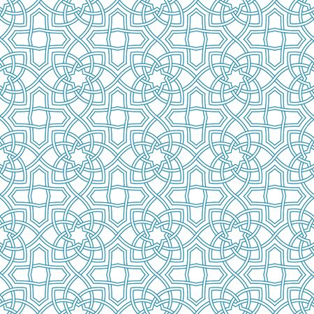 traditional pattern: Arabesque seamless beautiful oriental arabic islam pattern. Abstract vector background.