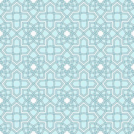 turkish: Arabesque seamless beautiful oriental arabic islam pattern. Abstract vector background.