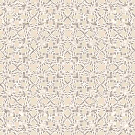 oriental pattern: Arabesque seamless beautiful oriental arabic islam pattern. Abstract vector background.