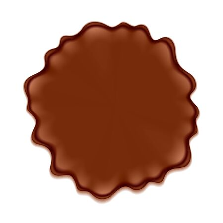 blotch: Brown blotch isolated on white background. Paint or chocolate spot.