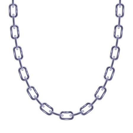 personal accessory: Thin chain silver metallic necklace or bracelet. Personal fashion accessory design.