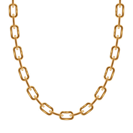 personal accessory: Thin chain golden metallic necklace or bracelet. Personal fashion accessory design.