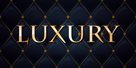 Luxus-Premium-abstrakten gesteppten Hintergrund, goldenen Buchstaben. Standard-Bild - 46908374