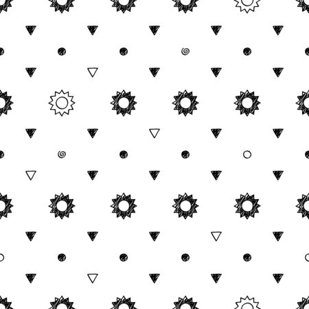 abstract scribble: Abstract scribble sketch seamless pattern background. Hand drawn vector illustration. Illustration