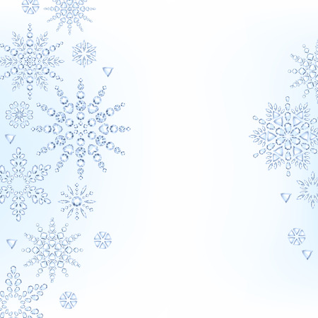 winter holiday: Light christmas new year snowflakes background. Winter holiday design.
