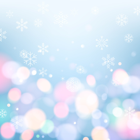 snow: Glitter glow sparkles magical background with snowflakes. New year and christmas design. Vector illustration. Illustration