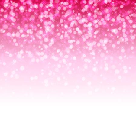 キラキラ輝きピンクに輝く魔法の背景。新年会やクリスマスをデザインします。ベクトルの図。
