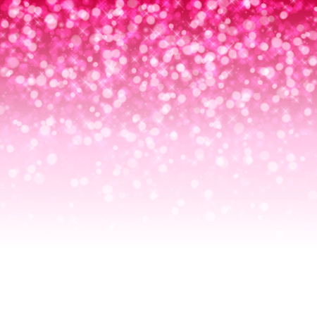 Glitter glow pink sparkles magical background. New year party and christmas design. Vector illustration.