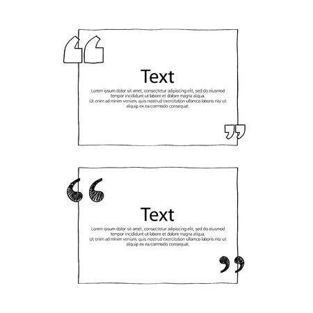 quote boxes with marks set text formatting design templates