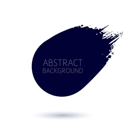 Abstract brush stroke hand drawn symbol background.