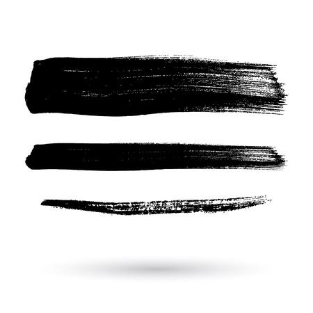 Brush strokes set hand drawn scribble abstract vector illustration. Border design template. Illustration