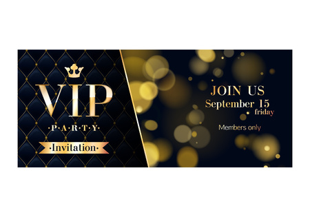 VIP party premium invitation cards posters flyers.  Stock Illustratie