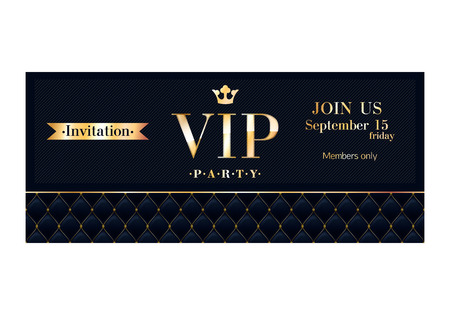 mosaic: VIP party premium invitation cards posters flyers.  Illustration