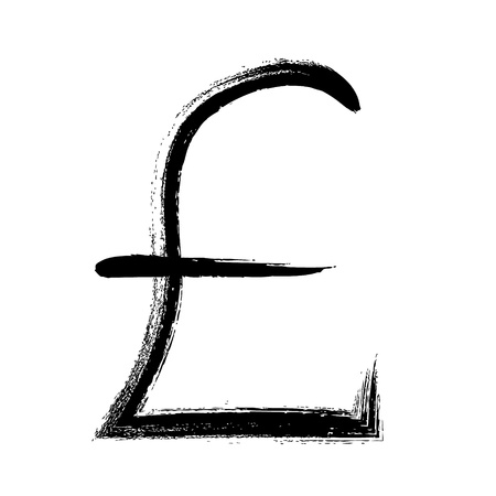 currency symbol: Currency symbol hand drawn vector illustration. GBP pound sign.