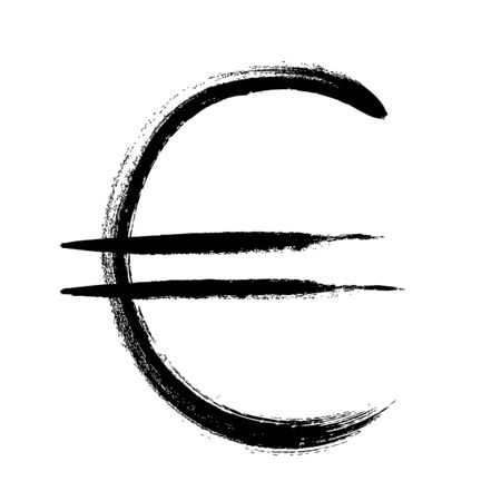 currencies: Currency symbol hand drawn vector illustration. Euro sign. Illustration