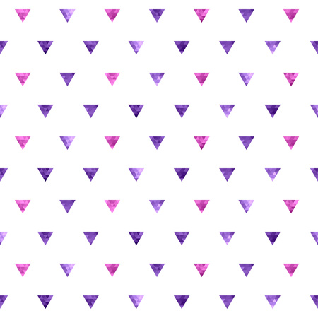 background purple: Seamless polka dot purple and pink triangles pattern. Mosaic faceted texture background. Illustration