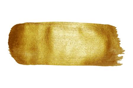 Goldene Farben Pinselstrich Textur Fleck Hintergrund Vektor-Illustration.