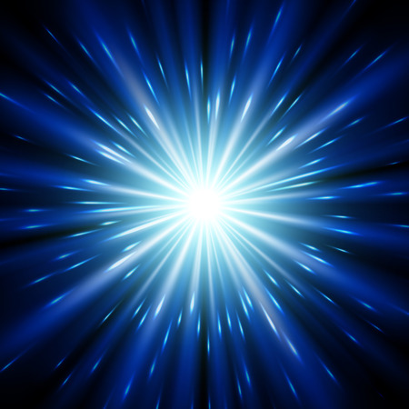 star background: Blue light sunburst background. Vector star burst with sparkles  illustration.
