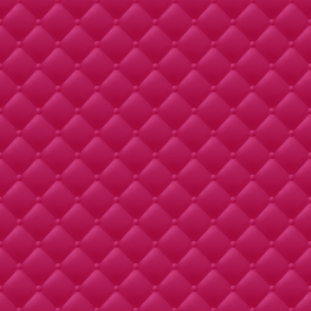 quilted: Quilted simple abstract seamless pattern. Red color. Illustration