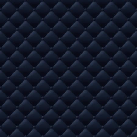 Gewatteerde eenvoudig abstract naadloos patroon. Zwarte kleur. Vector Illustratie