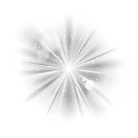 Black and white retro light sunburst background. Vector star burst glow shine with sparkles  illustration. 向量圖像