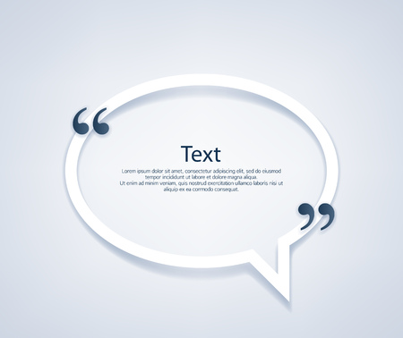 Quote paper bubble frame template vector illustration.