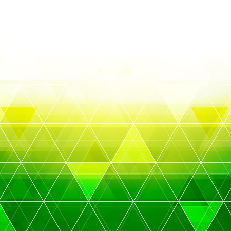 yellow green: Colorful abstract crystal triangles background. Ice or jewel structure. Yellow and green bright colors.