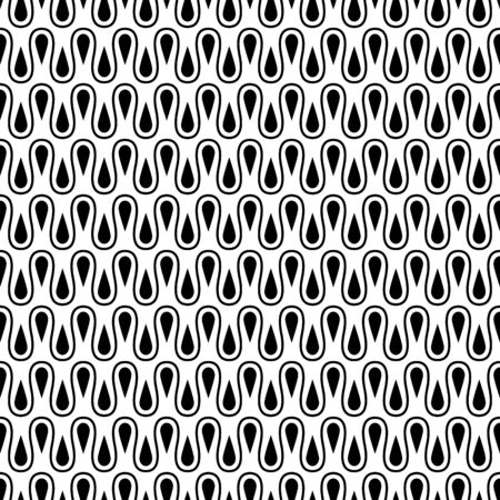 with loops: Loops and drops seamless pattern. Vector background illustration. Illustration