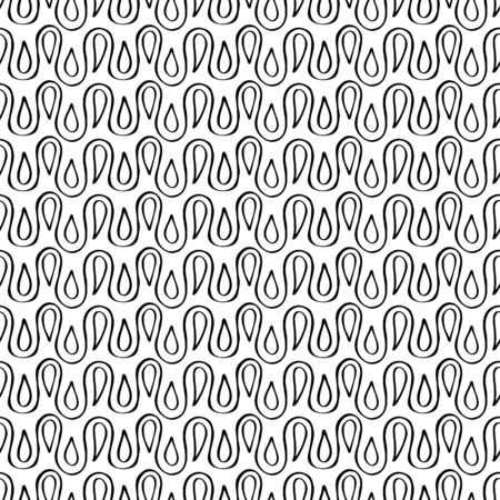 loops: Loops and drops seamless pattern. Vector background illustration. Illustration