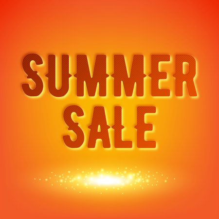 hot summer: Summer sale background vector illustration. Advertising poster flyer banner cover design.