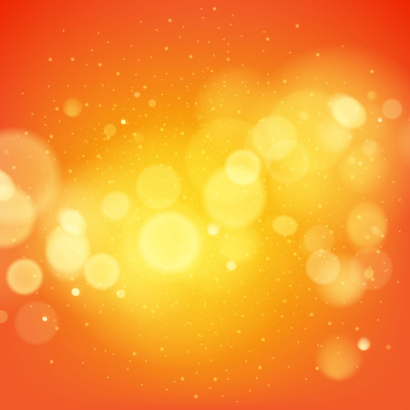 Abstract orange glow vector background. Advertising poster flyer banner cover design.