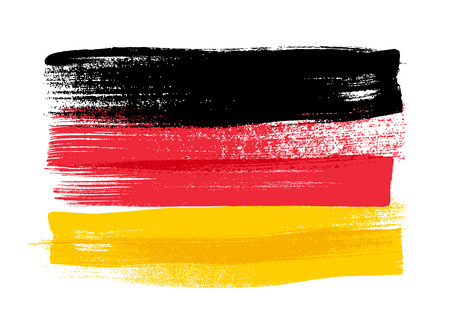 Alemania colorido pinceladas pintadas nacional del país icono de la bandera alemana. pintado textura. Ilustración de vector