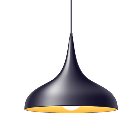 luminaire: Pendant light lamp vector illustration. Home interior decoration. Illustration