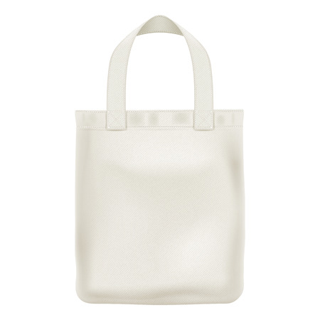 Eco tekstylne tote shopper bag ilustracji wektorowych. Dobre dla marki design.